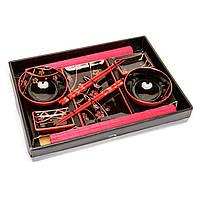 Японский набор для суши черный с красным S51242