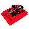 Японский набор для суши черный с красным S51242, фото 2