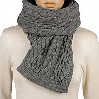 Женский вязаный шарф цвет  маренго