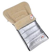 Детский зимний конверт-чехол For kids Mini на овчине в коляску санки Металлик k001m, КОД: 1317157