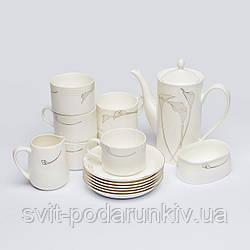 """Чайный сервиз на 6 персон """"цветы каллы"""" S9901"""