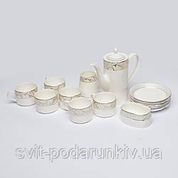 Китайский чайный набор фарфор S9903 с сахарницей и сливочницей