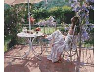 Картина по номерам Белоснежка Утро на террасе 40х50 см RN 386, КОД: 1058973