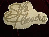 Брендовая надпись, логотип (42 х 60 см), декор