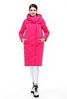 Зимняя женская куртка ORIGA Вероника 44 Фуксия, КОД: 1340495