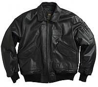 Куртка Alpha Industries CWU 45P Leather 3XL Black, КОД: 1313226