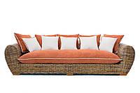 Плетеный диван Cruzo Пеллегрино из натурального ротанга Коричневый pl0002-0, КОД: 741538