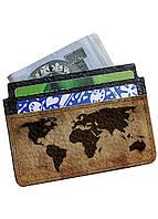 Картхолдер-визитница DevayS Maker  DM 02 Карта мира Коричневый 25-0102-448, КОД: 1238827