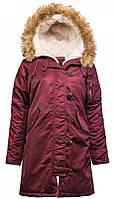 Куртка Alpha Industries Elyse M Maroon, КОД: 1313265