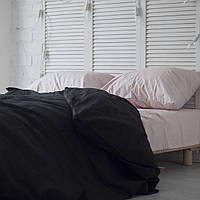Комплект постельного белья Хлопковые Традиции Евро 200x220 Бело-розово-черный PF051евро, КОД: 740649