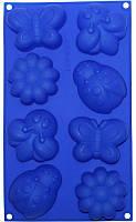 Форма силиконовая для выпечки Луговое 8 ячеек HH-608psg, КОД: 168180