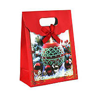 Сумочка подарочная Gift Bag Velcro Бумага Елочные игрушки 16x12x6 см 20840, КОД: 1347557