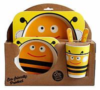Набор детской посуды из бамбукового волокна Elite Lux Пчелка 5 приборов 200671, КОД: 1082461