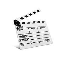 Кинохлопушка MLux WW-003 PREMIUM 32.5 x 26 x 1 Белая c магнитом на украинском языке, КОД: 1312346