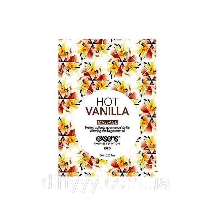 Пробник масла для массажа - EXSENS Hot Vanilla, 3ml