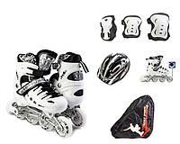 Набор роликовые коньки Scale Sport 34-37 White, КОД: 1324040