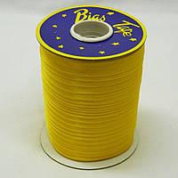 Косая бейка Super 3013 атласная 1.5 см х 100 м Желтая Bios-3013, КОД: 1314952