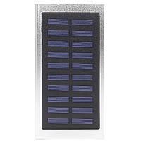 Внешний аккумулятор Power bank Solar Water Cube 8000 mAh портативная солнечная батарея Silver 258, КОД: 1288772
