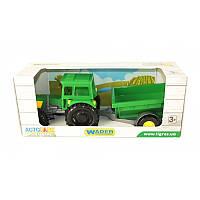 WADER Трактор с прицепом в коробке Оригинал