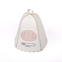 Банная шапка Luxyart Вынос мозга Белый LA-268, КОД: 1103679