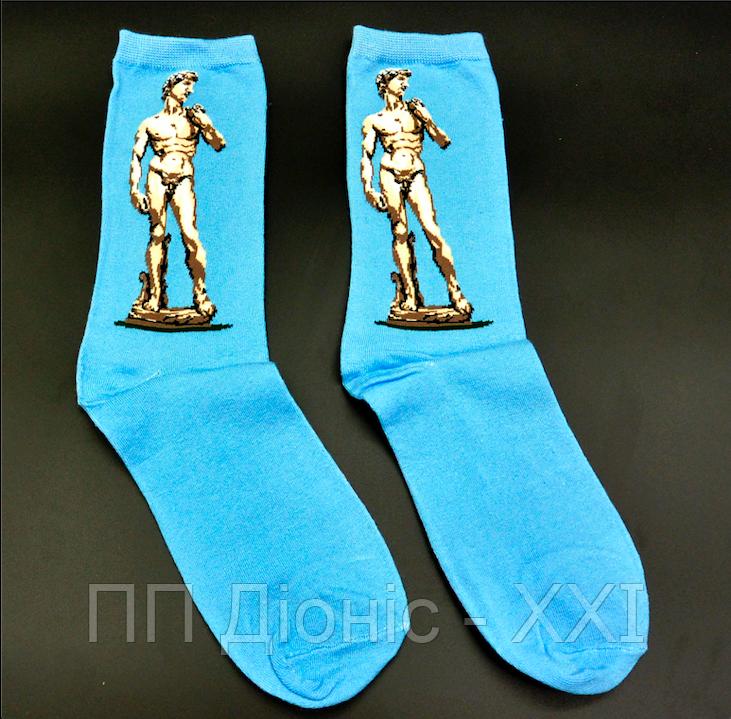 Крутые носки Давид Микеланджело Hot Sox