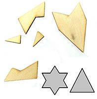 Головоломка геометрическая Звезда Крутиголовка krut0151, КОД: 119997