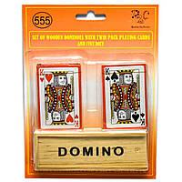 Набор DUKE домино+2 колоды игральных покерных карт в блистере DN26726, КОД: 285894