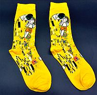 Крутые носки Поцелуй картина Климта Hot Sox, фото 1