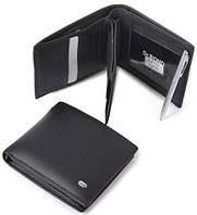 Мужской кожаный кошелек портмоне (2кошелька+ручка)
