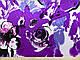Атлас стрейчевый крупные цветы, сиреневый, фото 2