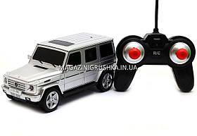 Игрушка машина модель Мерседес Бенц G55 (Mercedes-Benz) на радиоуправлении Автопром 8807 (серебро)