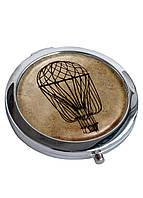 Зеркальце косметическое DevayS Maker DM 01 D 7 см Воздушный шар Коричневое 22-08-444, КОД: 1239029