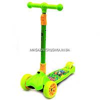 Самокат трехколесный детский 11220 Best Scooter (ПУ колеса, тихие, светящиеся, складывающаяся конструкция)
