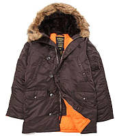 Куртка Alpha Industries Slim Fit N-3B XS Deep Brown Orange, КОД: 1313182