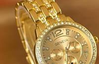 Кварцевые женские часы Geneva под Rolex, наручные часы купить