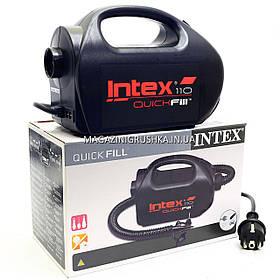 Насос электрический Intex 12/220 В Чёрный (68609). для надувных лодок, матрасов, кругов