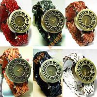 Часы женские ретро стильные кожа, бронза ОРИГИНАЛ