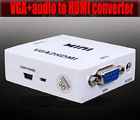 Видео аудио конвертер VGA to на HDMI