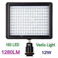 Накамерный свет 160 LED 1280lm для фото- видеокамер