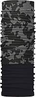 Зимний бафф Бандана-трансформер двухслойный Черный с серым ZBT-2F-025 4, КОД: 1348104