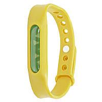 Силиконовый браслет от комаров с капсулой от укусов Lesko Anti Mosquito Band Yellow, КОД: 1295343