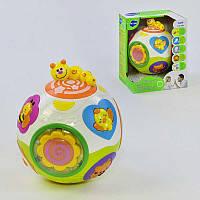Развивающая игрушка Веселый шар 938 (12/2) вращается, световые и звуковые эффекты, англ. озвучивание, в коробке