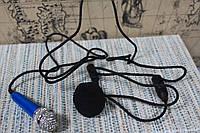 Мини микрофон для записи видео синий