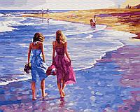 Картина Brushme по номерам Босиком по пляжу 40 x 50 cм def.GX29485, КОД: 1341272