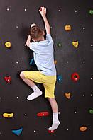 Детский уличный cкалодром «Скала» Kidigo (SDSU01), альпинистская стенка, скалолазание для детей.