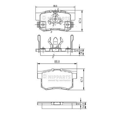 Гальмівні колодки к-кт. HONDA STREAM (RN) / HONDA ACCORD IX седан (CR) 1994-2012 р.