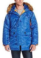 Куртка Alpha Industries Slim Fit N-3B 3XL Pacific Blue Orange, КОД: 1313274