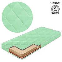 Матрас кокос - поролон - гречка, чехол хлопок Комфорт Зеленый ТМ Беби-Текс - 219258