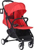 Прогулочная коляска Yoya Plus Красная с черной рамой 670064719, КОД: 125457