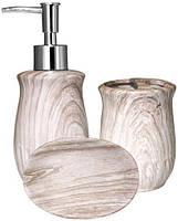 """Набор аксессуаров """"Ольха"""" для ванной комнаты 3 предмета, керамика"""